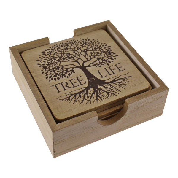 6 Piece Tree Of Life Coaster Set