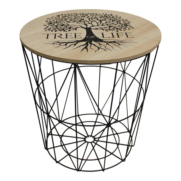 Tree of Life Geometric Side Table 40x40cm.