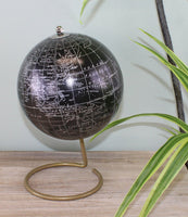 Decorative Freestanding Globe in Black