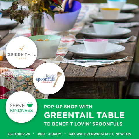 Serve Kindness Pop Up Event at Greentail Table