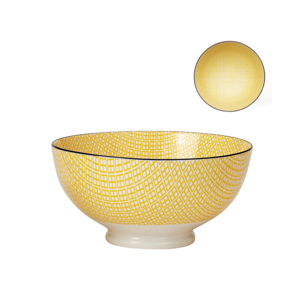 Kiri Bowls - Yellow/Black - Large