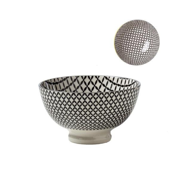 Kiri Porcelain Bowl - Wicker Weave - Medium