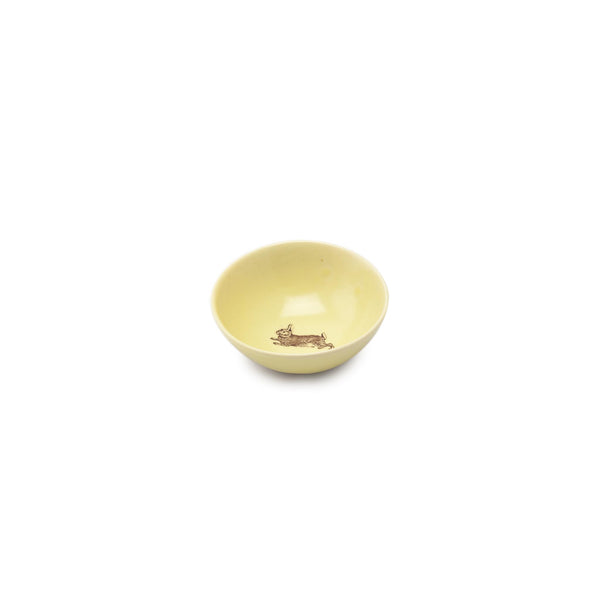 Gleena Porcelain Roly Poly Small Bowl - Rabbit - Mustard