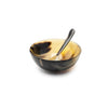 Varigated Horn Bowl & Spoon Set