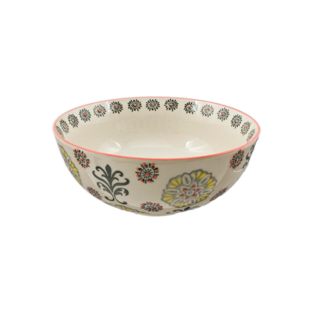 Hand-painted Floral Ceramic Bowl - 9