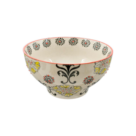 Hand-painted Floral Ceramic Bowl - 6