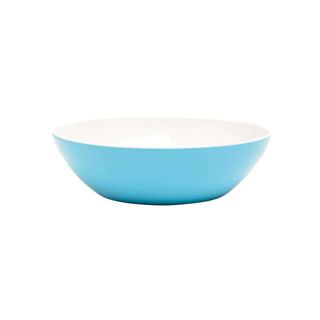 Blue & White Melamine Serving Bowls Set of 2