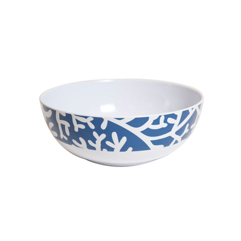 Coral Melamine Serving Bowl - Blue