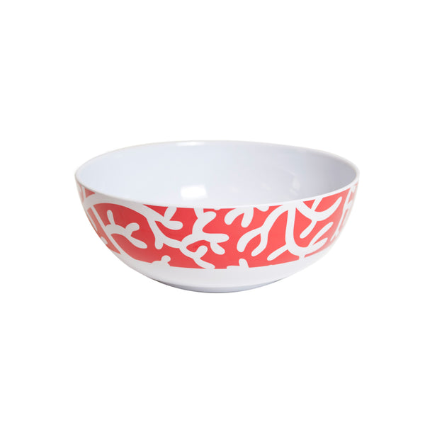 Coral Melamine Serving Bowl - Red