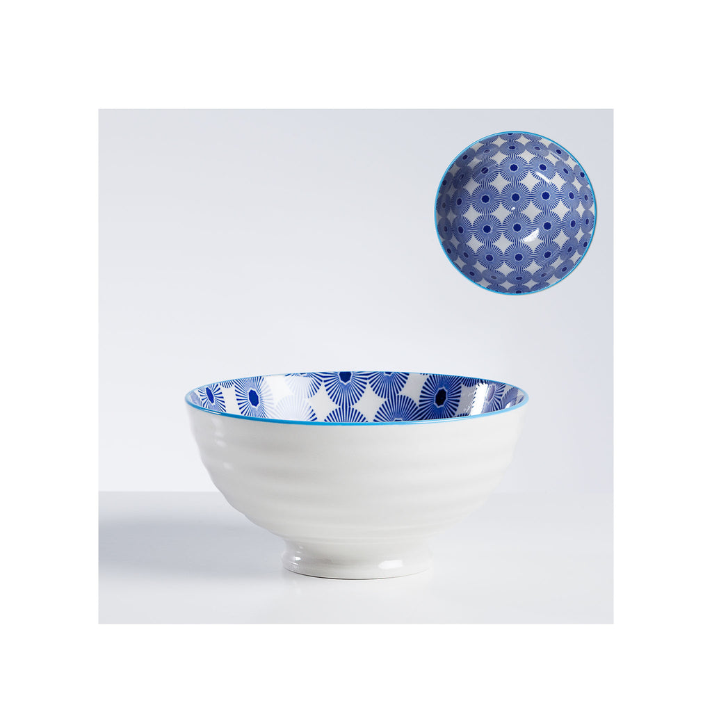 Kiri Porcelain Bowl - Pinwheel - Medium