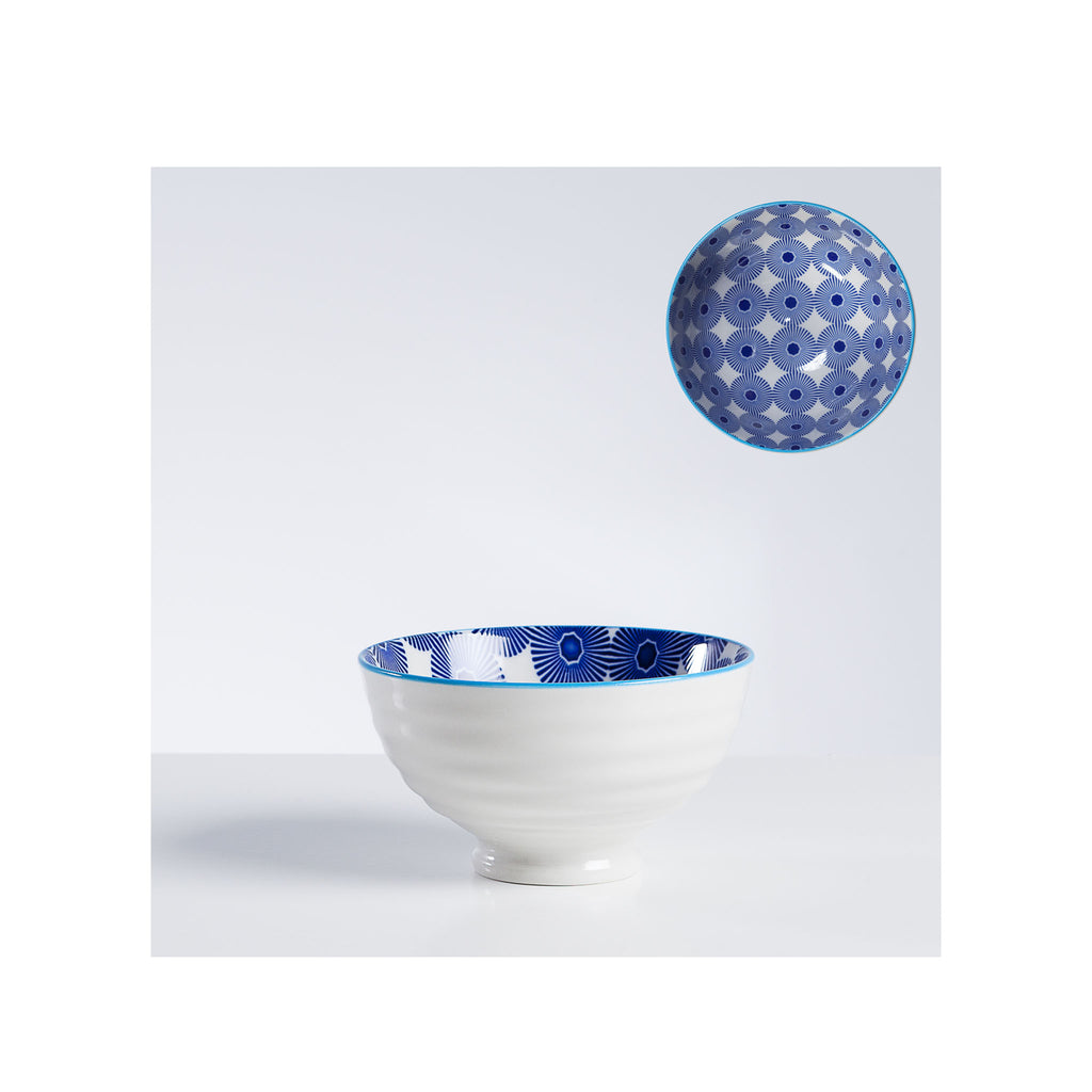 Kiri Porcelain Bowl - Pinwheel - Small