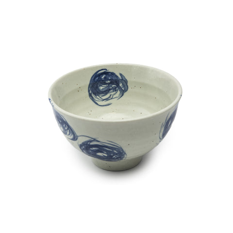 Donburi Bowl - Blue Squiggles