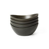 EcoSmart Polyflax Bistro Bowls Set of 4 - Black