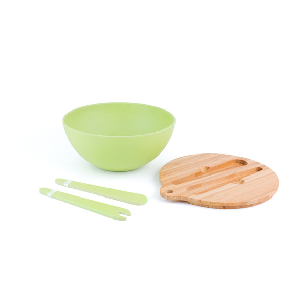 Bamboo Fiber Salad Bowl with Prep Lid - Green