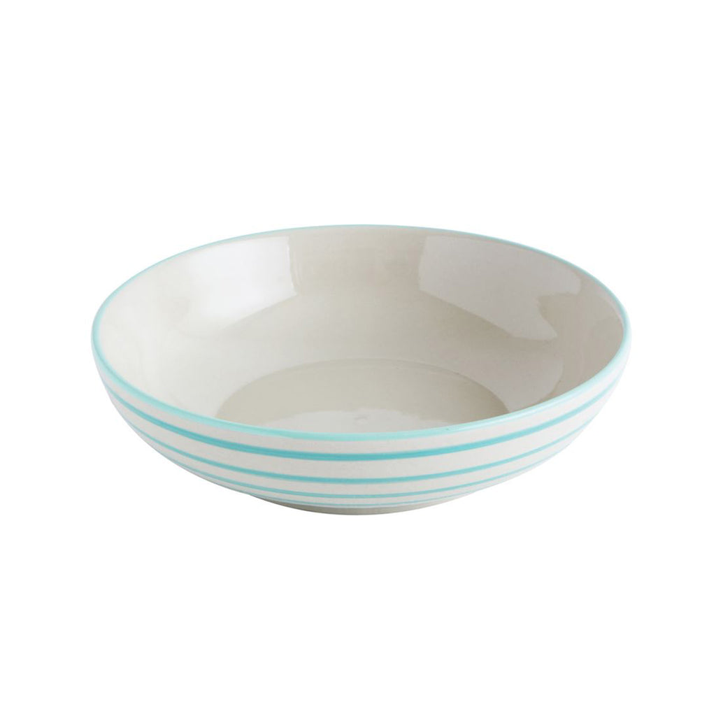 Zesty Striped Serving Bowl