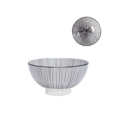 Kiri Porcelain Bowl - Black Line - Medium