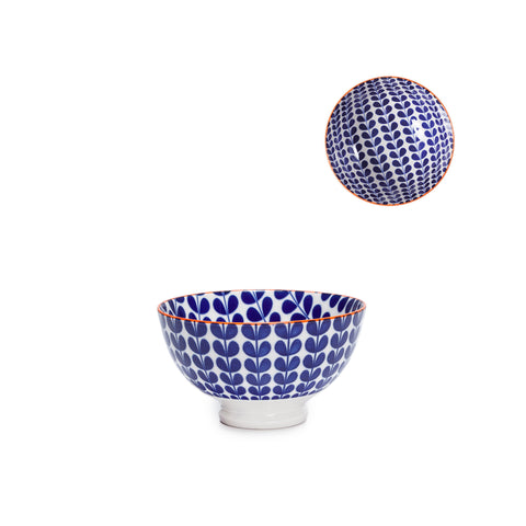 Kiri Porcelain Bowl - Blue Vine - Small