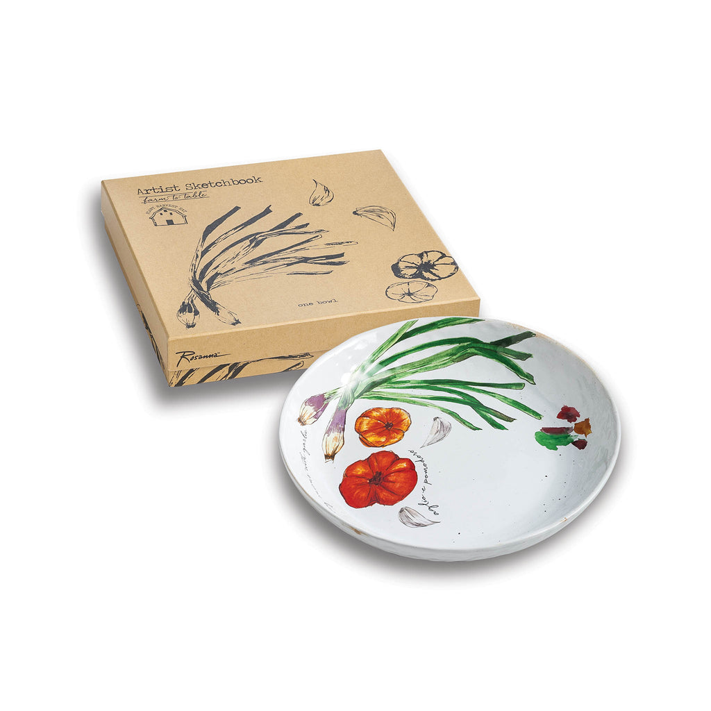 Farm to Table Shallow Serving Bowl - Spring Onion