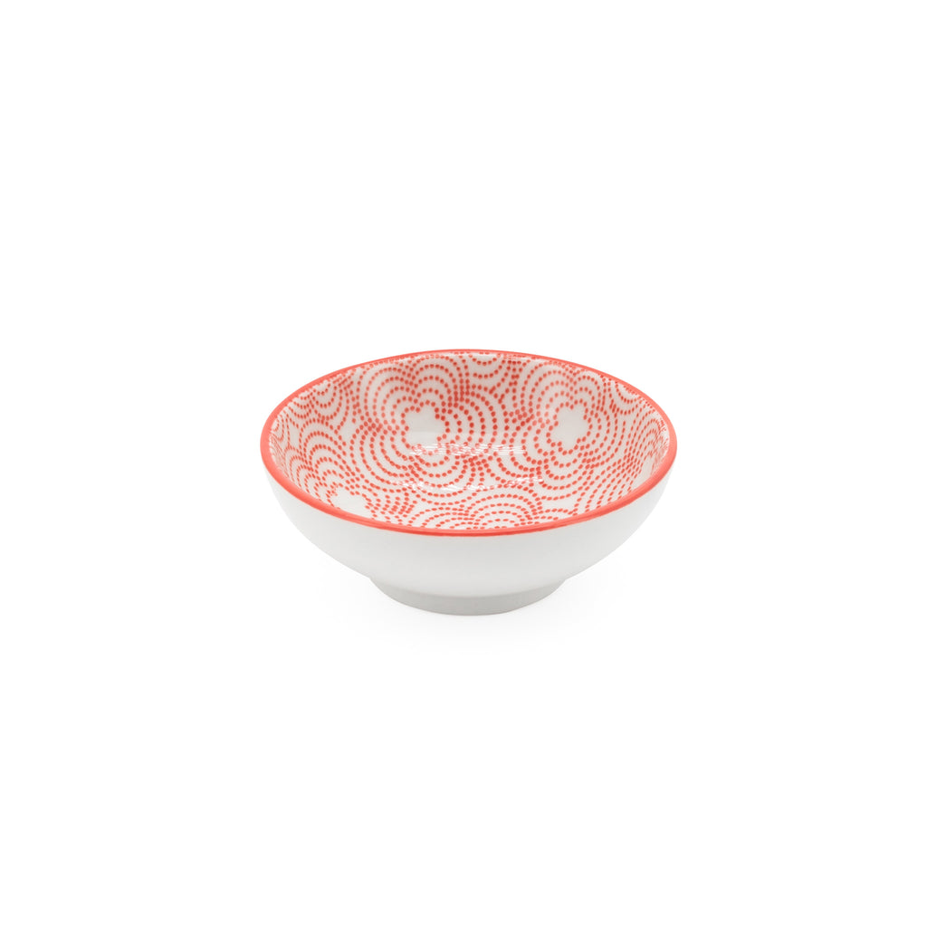 Kiri Sauce Dish - Red with Red Trim
