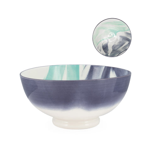 Kiri Porcelain Bowl  - Watercolor Brush - Large