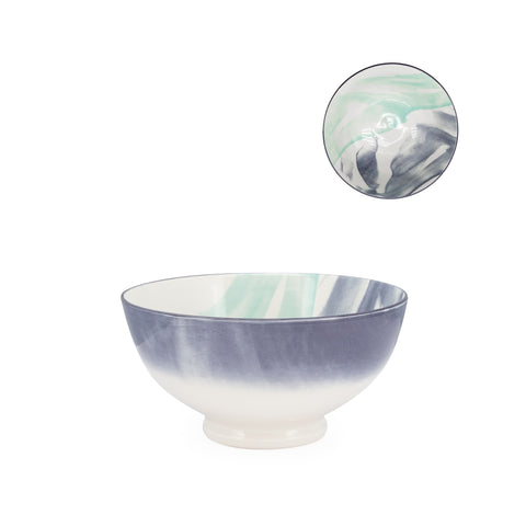 Kiri Porcelain Bowl - Watercolor Brush - Medium