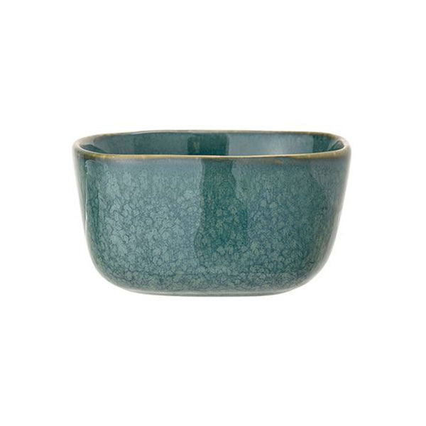 Reactive Glaze Square Bowl - Teal