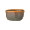 Reactive Glaze Square Bowl - Chestnut