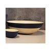 Spun Bamboo Two-Tone Bowls - Dark Blue - Extra Large