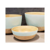 Spun Bamboo Two-Tone Bowls - Pastel Green - Medium