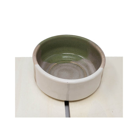 Dip Bowl - Green Tricolor