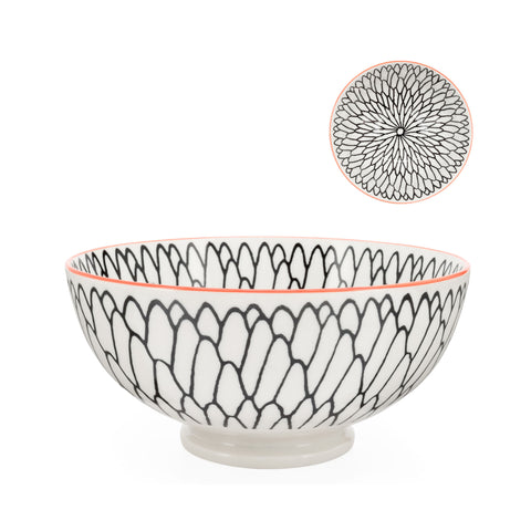 Kiri Porcelain Bowl - Dahlia - Large