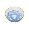 Casper Embossed Porcelain Bowl - Flower/Pale Blue