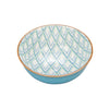 Casper Embossed Porcelain Bowl - Diamonds/Turquoise