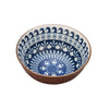 Casper Embossed Porcelain Bowl - Navy Mixed Motifs/Plum