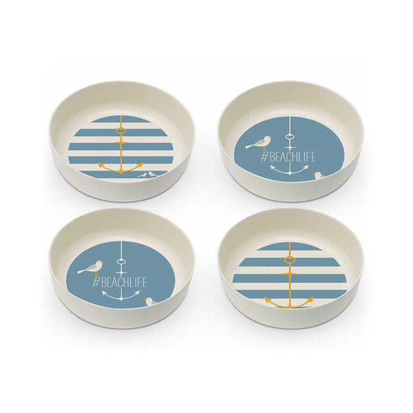 Anchor Bamboo Salad Bowls Set of 4