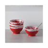 Latte Bowls - Red- in use