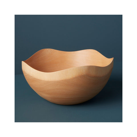 Mango Wood Wave Edge Bowl