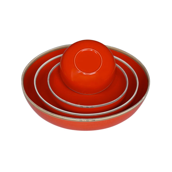 Hermit Bowls - Coral Red