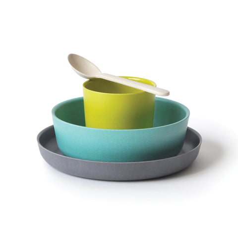 Bambino Mealtime Set - Lime/Lagoon/Smoke