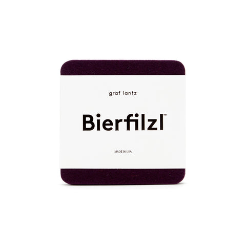Bierfilzl Wool Felt Coaster Set of 4 - Aubergine