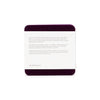 Bierfilzl Wool Felt Coaster Set of 4 - Aubergine - package back