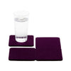 Bierfilzl Wool Felt Coaster Set of 4 - Aubergine in use