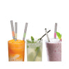 Stainless Spoon Straws Set of 4
