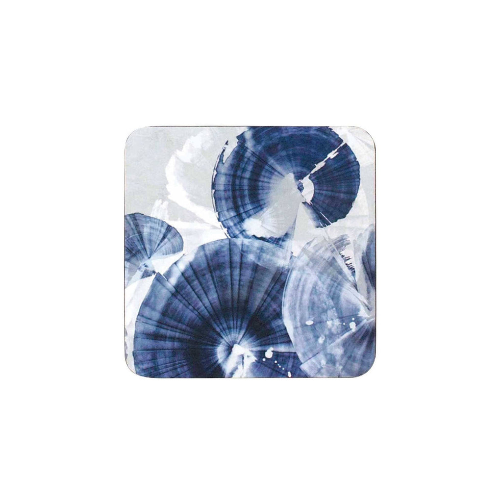 Indigo Pinwheels Coaster Set of 4