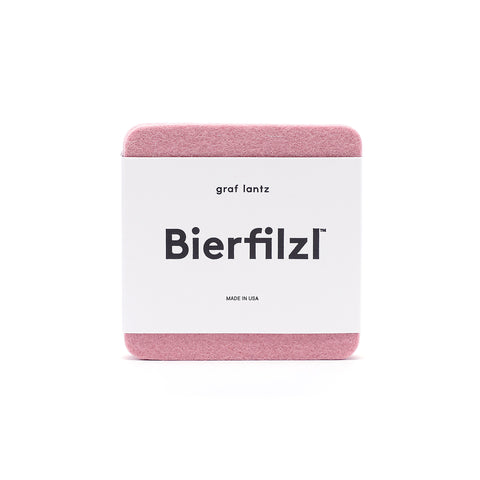 Bierfilzl Wool Felt Coaster Set of 4 - Rock Salt