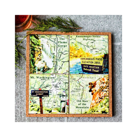 Coaster / Trivet Set - New Hampshire Mountain Landmarks