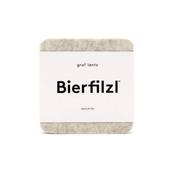Bierfilzl Wool Felt Coaster Set of 6 - Gravel Set