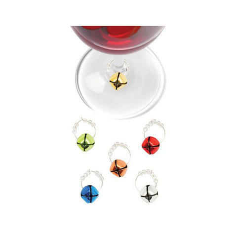 Jingle Bell Wine Charms