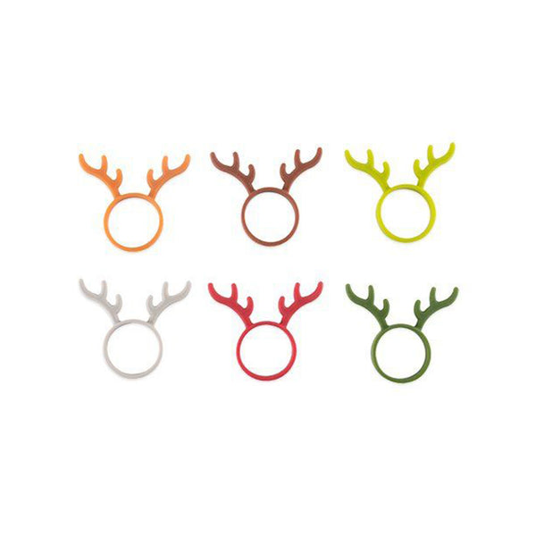 Reindeer Bottle Markers Set of 6