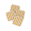 Abstract Coasters Set of 4 - Yellow Blush Shapes